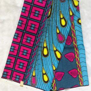 Multi african print fabric