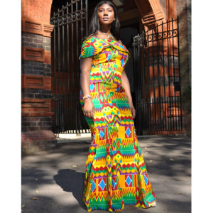 African Kente Polish Cotton Dress